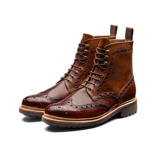 Grenson Fred Boots - Tan Commando Sole