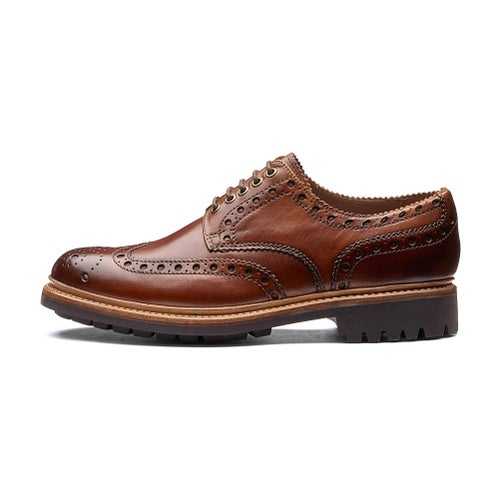 Grenson Archie Dress Shoes - Tan Commando Sole