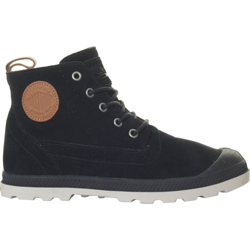 Palladium Pampa London LP Mid Sue Ladies Boots - Black Cuero