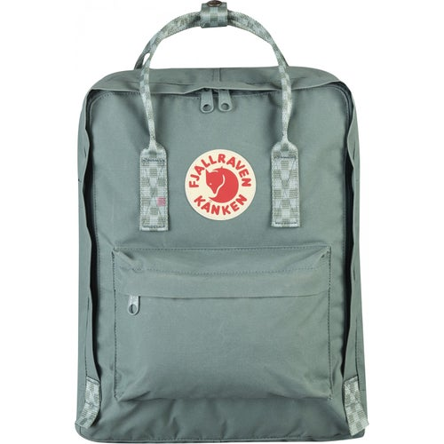 Fjallraven Kanken Classic Backpack - Frost Green Chess Pattern