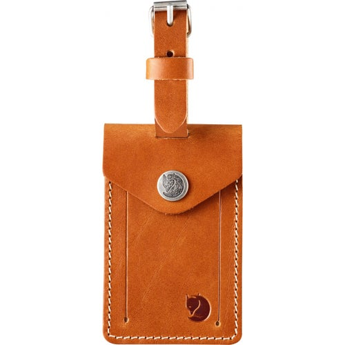 Fjallraven Leather Luggage Tag - Leather Cognac