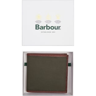 Barbour Drywax Billfold Wallet - Olive