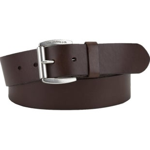 Levis Linden Leather Belt - Dark Brown
