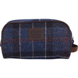 Barbour Shadow Tartan Washbag - Navy Rust Tartan