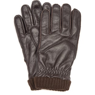 Barbour Barrow Leather Gloves - Brown