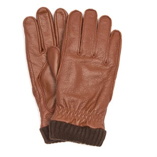 Barbour Barrow Leather Gloves - Tan