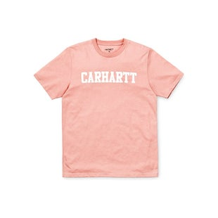 Carhartt College T Shirt - Soft Rose White