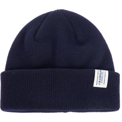 Barbour Lambswool Watch Beanie - Navy