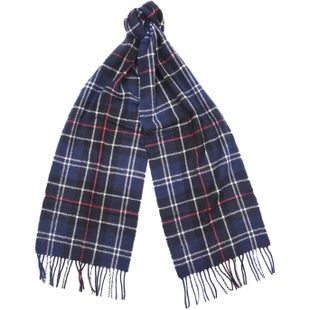 Barbour Tartan Lambswool Scarf - Navy Red