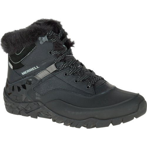 Merrell Aurura 6 Ice Plus WTPF Ladies Hiking Shoes - Black