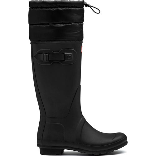 Hunter Original Tall Quilted Cuff Ladies Wellies - Black