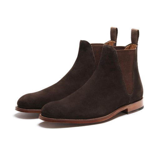 Grenson Nolan Chelsea Boots - Chocolate Suede
