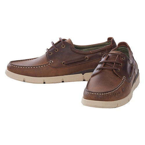 Barbour George Shoes - Beige Brown Leather