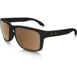 Oakley Holbrook Polarised Sunglasses - Matte Black ~ Prizm Tungsten