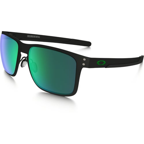 Oakley Holbrook Metal Sunglasses - Matte Black ~ Jade Iridium