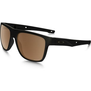 Oakley Crossrange XL Polarised Sunglasses - Matte Black ~ Prizm Tungsten
