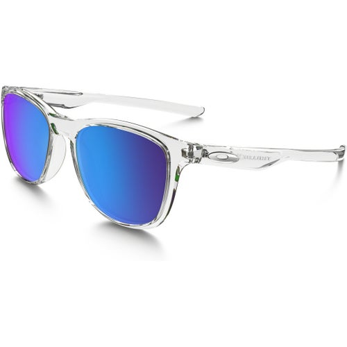 Oakley Trillbe X Polarised Sunglasses - Matte Clear ~ Sapphire Iridium