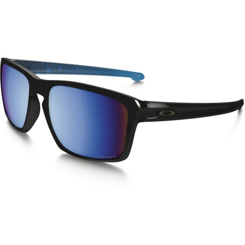 Oakley Sliver Abyss Collection Polarised Sunglasses - Polished Black ~ Prizm Deep Water
