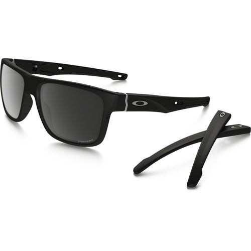 Oakley Crossrange Polarised Sunglasses - Matte Black ~ Prizm Black