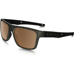 Oakley Crossrange Polarised Sunglasses - Woodgrain ~ Prizm Tungsten