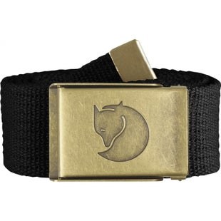 Fjallraven Canvas Brass 4cm Web Belt - Black