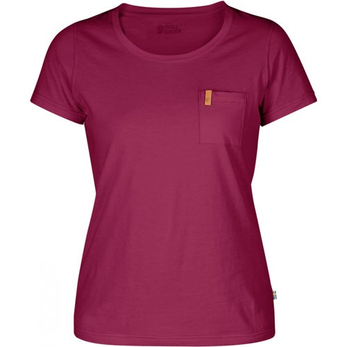 Fjallraven Ovik Ladies T Shirt - Plum