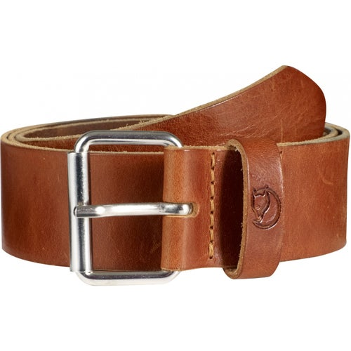 Fjallraven Singi 4cm Leather Belt - Leather Cognac