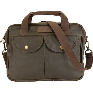 Barbour Wax Longthorpe Laptop Bag - Olive