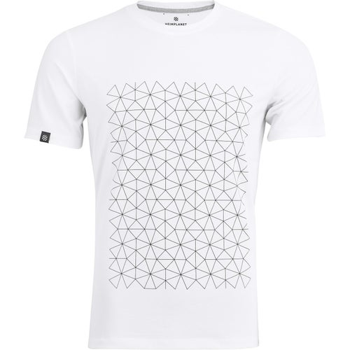 Heimplanet Grid Block T Shirt - White