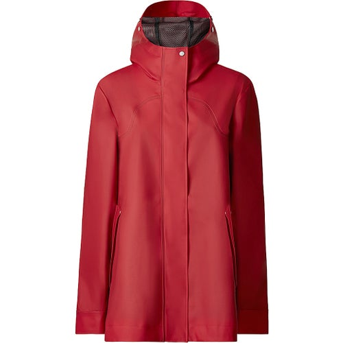 Hunter Original Rubberised Smock Ladies Jacket - Military Red