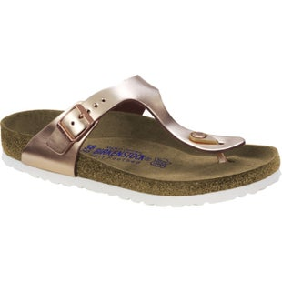 Birkenstock Gizeh Natural Leather Soft Footbed Ladies Sandals - Metallic Copper