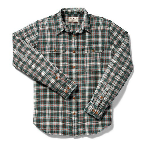 Filson Scout Shirt - Mallard Red Cream Plaid