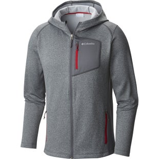 Columbia Jackson Creek II Hooded Fleece - Graphite Heather Mountain Red