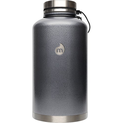 Mizu V20 w Stainless Steel Lid Flask - Grey Hammer Paint
