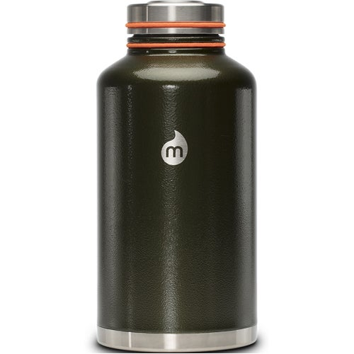 Mizu V20 w Stainless Steel Lid Flask - Army Hammer Paint