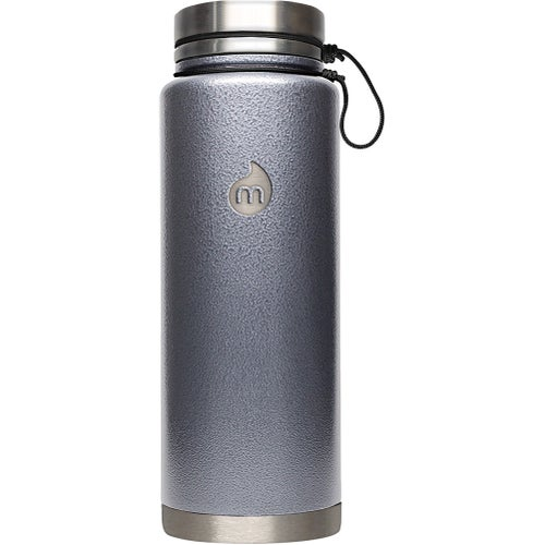 Mizu V12 w Stainless Steel Lid Flask - Grey Hammer Paint
