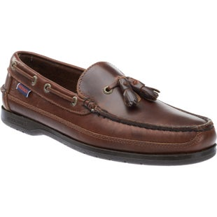 Sebago Ketch Slip On Shoes - Brown Oily Waxed Leather