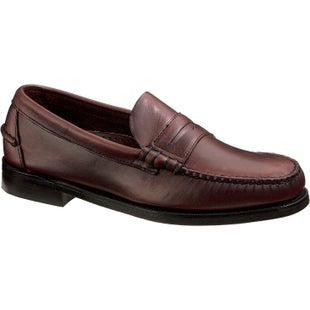 Sebago Classic Slip On Shoes - Brown Oiled Waxy Leather