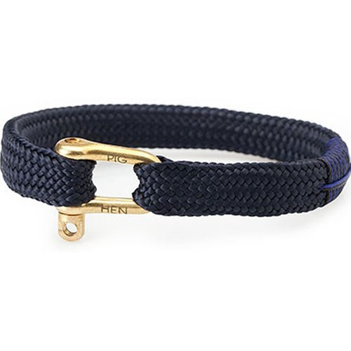 Pig and Hen Pegleg Pete Bracelet - Navy Gold