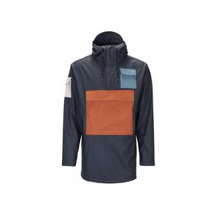 Rains Camp Anorak Jacket - Blue Rust Pacific Moon