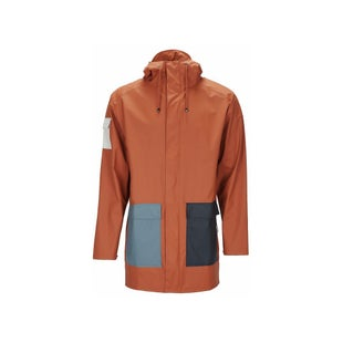 Rains Camp Jacket - Blue Rust Pacific Moon