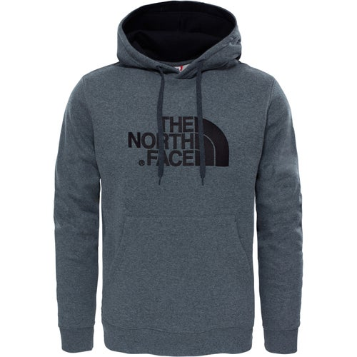 North Face Drew Peak Hoody - Medium Grey Heather TNF Black