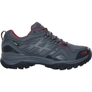 North Face Hedgehog Fastpack GTX Hiking Shoes - Zinc Grey Rudy Red