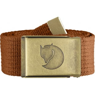 Fjallraven Canvas Brass 4cm Web Belt - Autumn Leaf