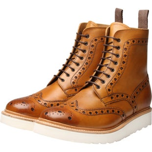 Grenson Fred Boots - Tan White Wedge Sole
