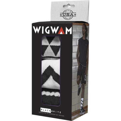 Wigwam Black and White Collection Holiday Gift Box Hiking Socks - Black White