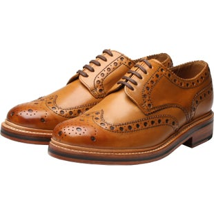 Grenson Archie Dress Shoes - Tan Leather Sole