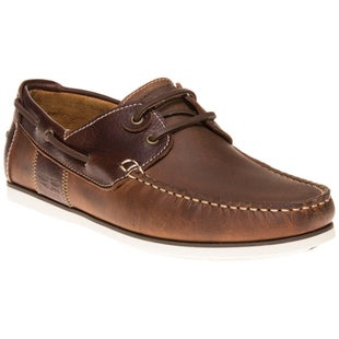 Barbour Capstan Shoes - Beige Brown Leather