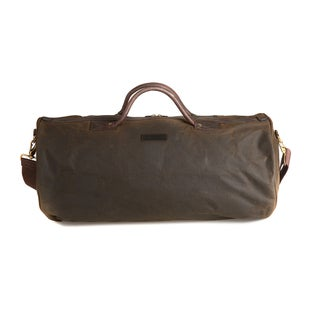 Barbour Wax Holdall Duffle Bag - Olive