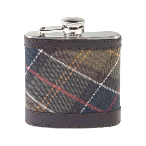 Barbour Hip Flask - Classic Dark Brown